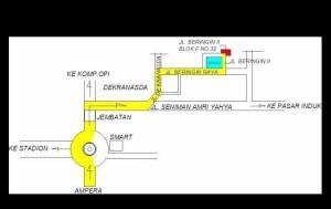 peta alazhar sriwijaya